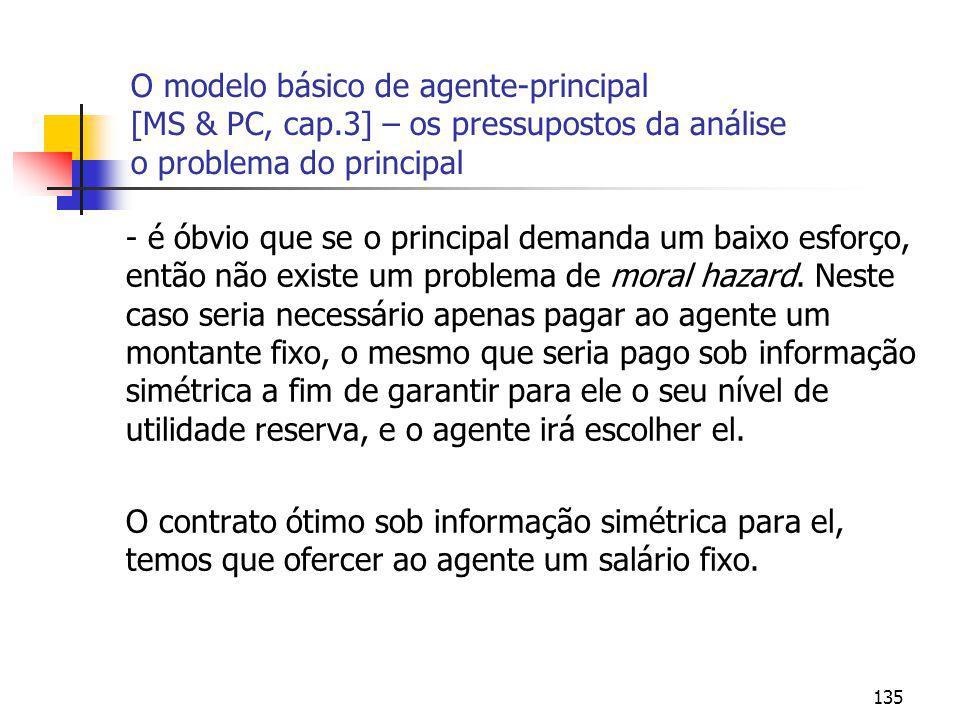 O modelo básico de agente-principal [MS & PC, cap